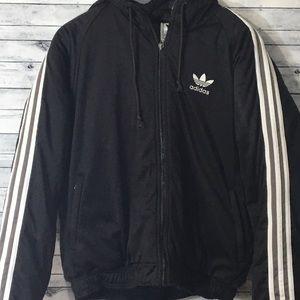 Adidas Coat w/Hood Black Medium